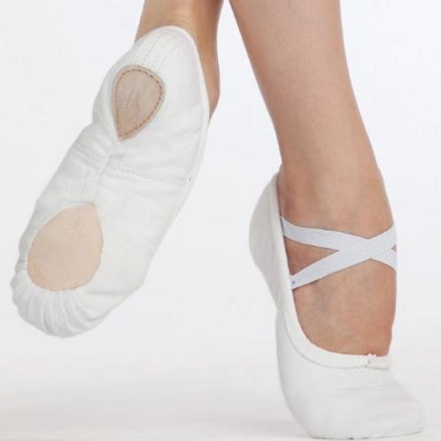 Boys Capezio Pro Canvas Ballet Shoes - White