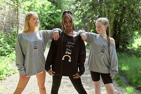 Don't Sweat the Small Stuff grey & black kids sweatshirts