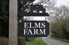 Elms Farm B&B entrance sign