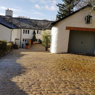 Cobbled driveway repairs in Exmoor Devon