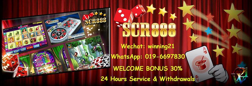 SCR888 Online Slot Games Free Bonus Malaysia