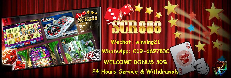SCR888 Online Casino Free Welcome Bonus Agent Malaysia