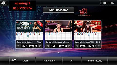 crown128 baccarat , mini baccarat , online casino baccarat