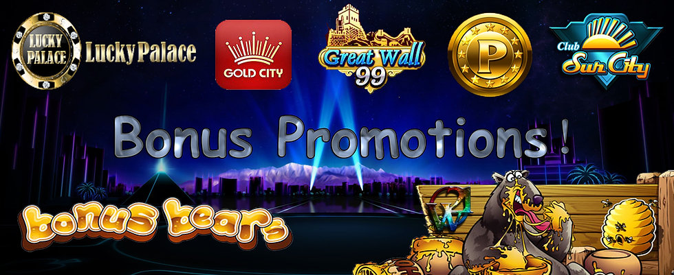 Club Suncity-GW99-Great Wall 99 - P2P Online Casino Free Bonus