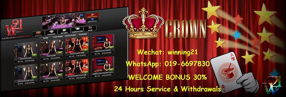 Crown Online Casino Register Free Bonus Agent Malaysia