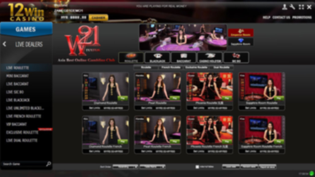 12win online casino live games banker player