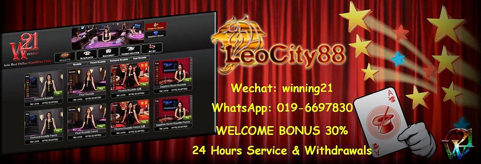 Leocity88 Online Casino Register Free Bonus Agent Malaysia