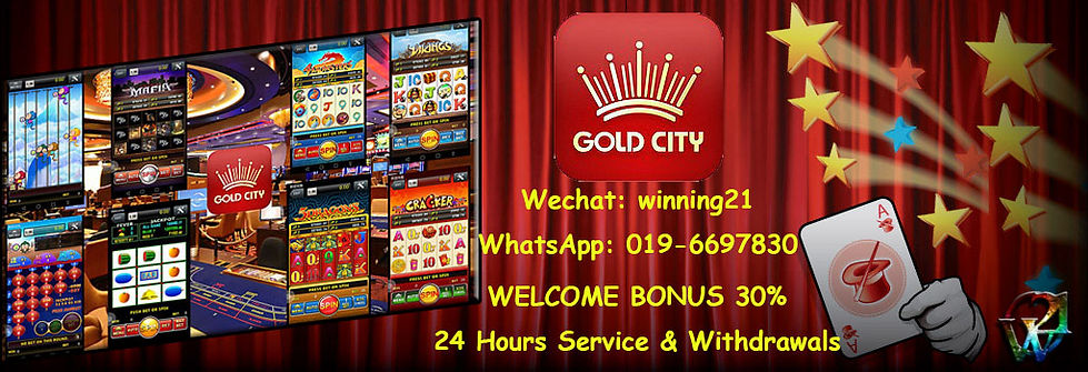 Gold City Online Casino Free Welcome Bonus Agent Malaysia