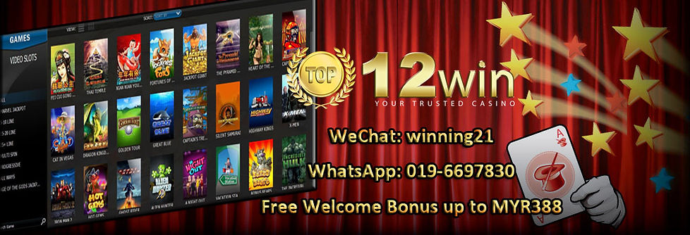 12win Online Slot Games Free Bonus Register Agent Malaysia