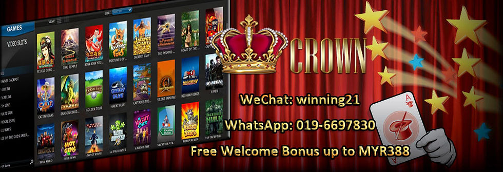 Crown-Crown128 Online Slot Games Free Bonus Register Agent Malaysia