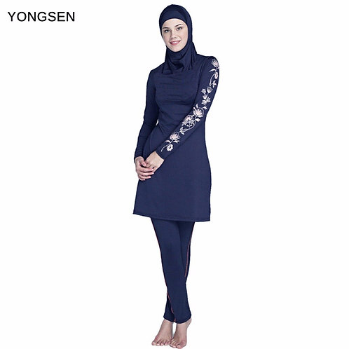 YONGSEN 3 Pieces Separated Longsleeve Swimwear Hijab