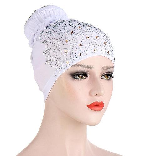 Full Cover Muslim Inner Hijab Cloth Hair Bun Bonnet Turban Cap