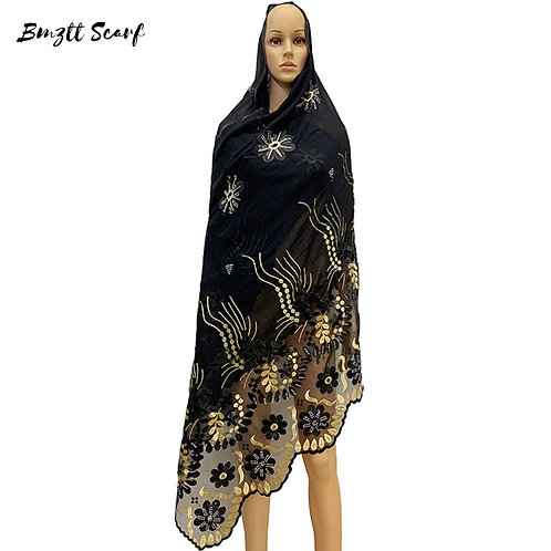2020 New African Women Hijab Scarf, Fashion Embroidered