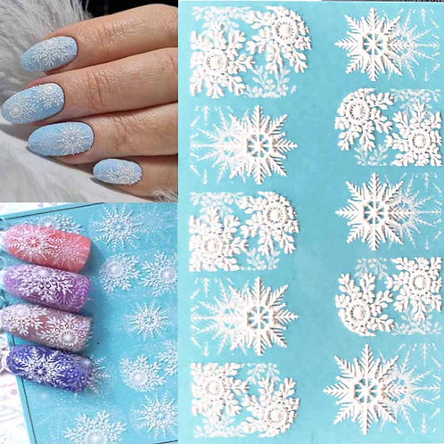 3D Acrylic Engraved  Winter White & Mix
