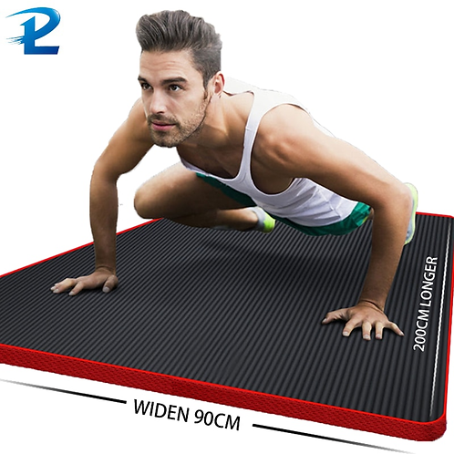 Thickened Non-Slip Fitness Mat High Density  Exercise Yoga Mats with Edging