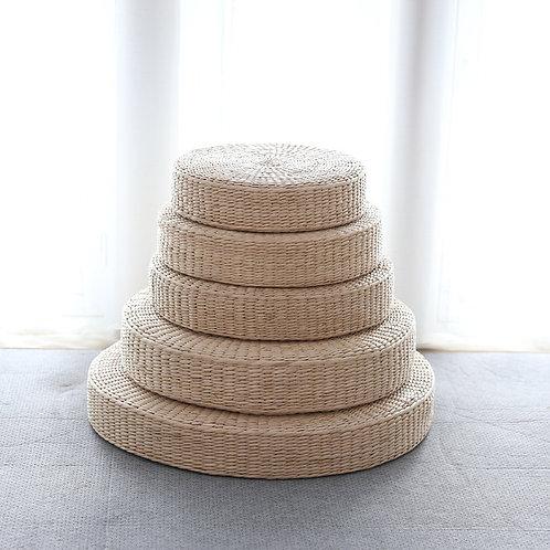 Handmade Straw Yoga Mat Comfortable Tatami Natural Yoga Chair Zafu Chair
