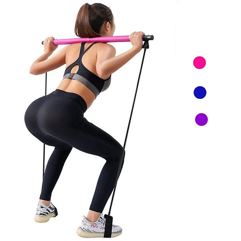 Yoga Pull Rods Gym Bar Pilates Body Abdominal Resistance Bands