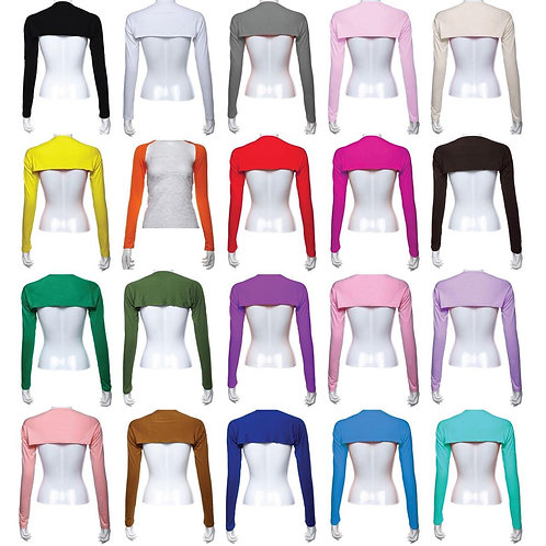 One Piece Sleeves Arm Cover Shrug Hijab 20 Colors