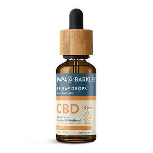 Papa & Barkley - CBD Tincture - Releaf Drops Natural - 450mg-900mg
