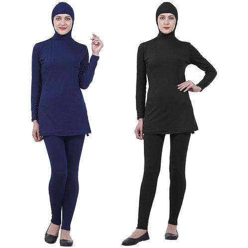 Modest Swimsuits Plus Size Women Burkinis Beachwear Islamic Full Cover Hijab
