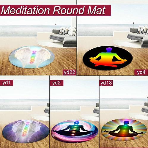 Round Meditation Yoga Mat Non Slip Meditation Mat