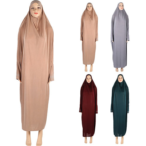 Burqa Prayer Dress Khimar Kaftan Robe Arab Middle East Clothing