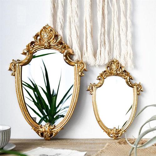 Vintage Mirror Exquisite Makeup Mirror Hanging Mirror