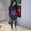 Thumbnail: Running Tracksuit Sportswear 2 Piece Set Top and Pants Suit Jogging