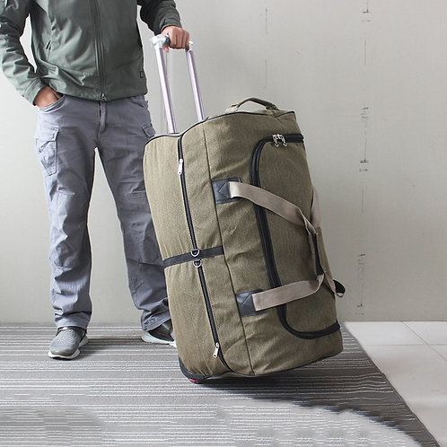 Super Large Trolley Luggage Bag With Wheels Big Canvas Travel Suitcase Bag