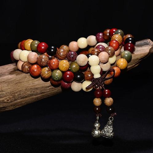 Cindiry 108*6mm/8mm Variety of Sandalwood Prayer Beads Bracelets Buddha Mala