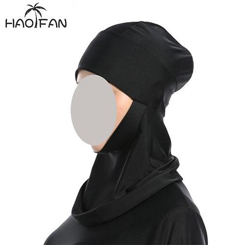 Haofan Muslim Swim Hijab Hat Islamic Head Wear Neck Cover