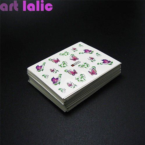 50 Sheets Nail Stickers Mixed Designs Water Transfer Nail Art