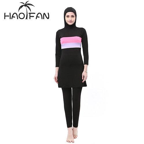 HAOFAN Hijab Islamic Plus Size Swim Surf Wear