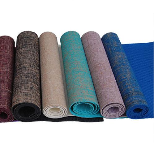 Non-Slip Jute Linen Yoga Mat Nature Yoga Mat Thickness 5mm
