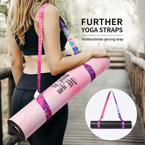 Yoga Mat Carry Strap Adjustable Sling Pilates Exercise Fitness