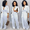 Thumbnail: Jumpsuit Dot Black White Rompers Self Belted Pockets