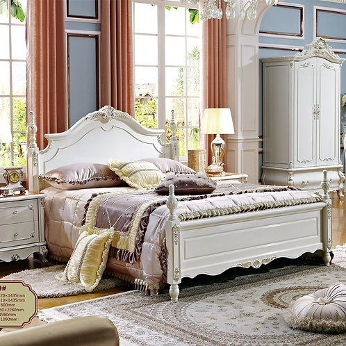 American Style Wooden Beds King Size Bed Frame Bedroom Furniture