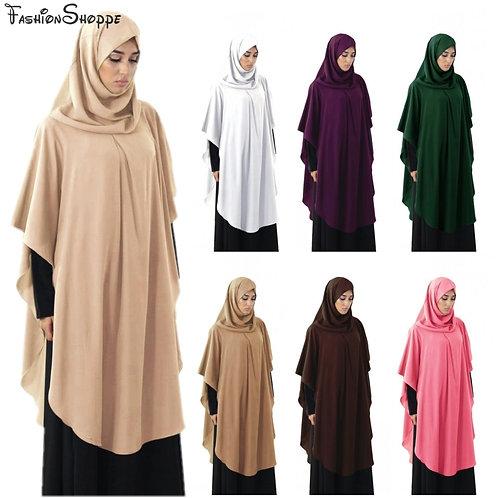 Muslim Ramadan Woman Long Khimar Hijab Modest Prayer Garment