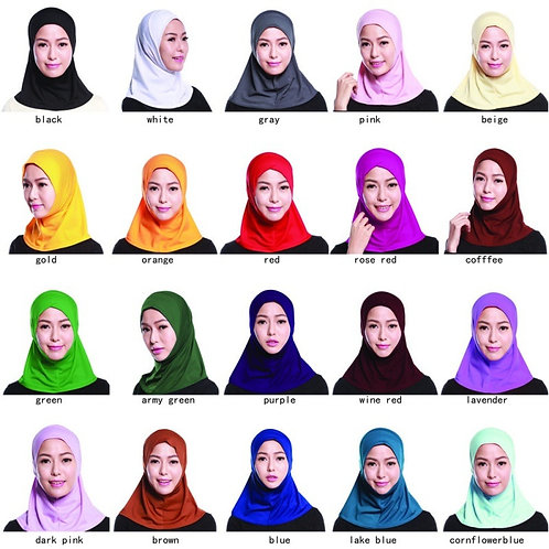 Solid Scarf Hijabs Islamic Neck Cover Bonnet Full Cover Inner Hijab
