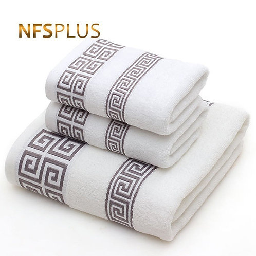 Cotton Towel Set for Adults 2 Face Hand Towel 1 Bath Towel