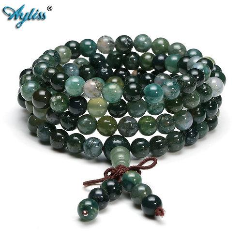 Ayliss 6mm 8mm Beads  Natural Healing Gem Stone 108 Mala Prayer Beads