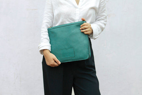 Nishka Document Clutch - Teal