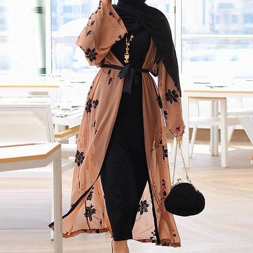Chiffon Dubai Abaya Kimono Islam Muslim Hijab Dress