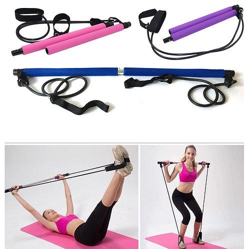 Yoga Pull Rods Pilates Bar Kit Toning Bar Fitness