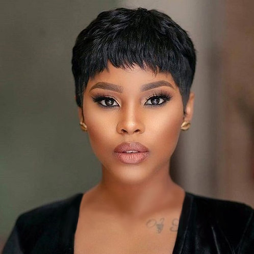 Women Short Black Wigs Heat Resistant Hair