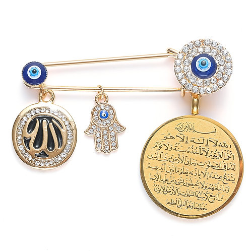 Muslim Islam Allah/Turkish Evil Eye Hand of Fatima Pendant High Quality Metal