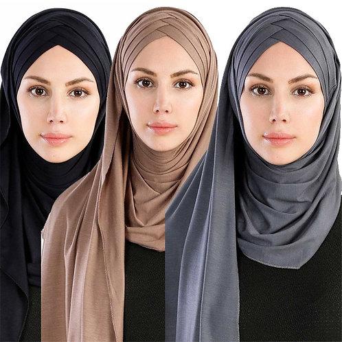 2020 Muslim Jersey Instant Hijab Scarf Ready to Wear Hijabs