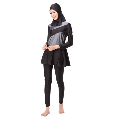 Ladies Muslim Hijab Swimwear Islamic Highly Elastic