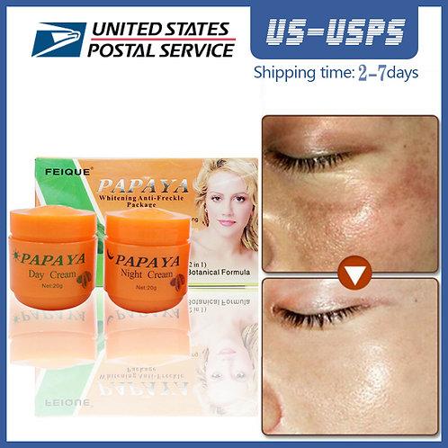 20g Day Cream/Night Cream Papaya Improve Dark Skin Refreshing Face Skin Care