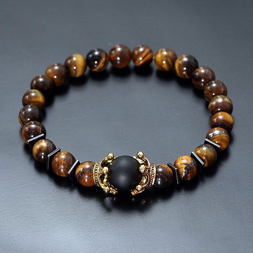 Charm Bracelet Tiger Eye Stone Bead Bracelets